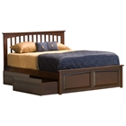 Brooklyn Bed w/ Raised Panel Footboard and Flat Panel Drawers