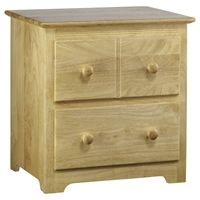 Windsor Nightstand - 2 Drawers, Natural Maple