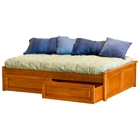 Concord Platform Bed w/ Raised Panel Footboard and Drawers