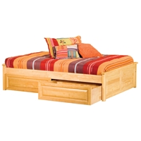 Concord Platform Bed w/ Raised Panels and Drawers