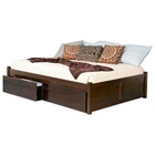 Concord Platform Bed w/ Flat Panels and Drawers