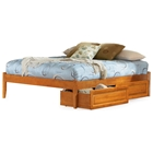 Concord Platform Bed w/ Open Footrail and Raised Panel Drawers
