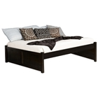 Concord Platform Bed w/ 2 Flat Panel Footboards in Espresso