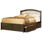 Windsor Platform Bed w/ Flat Footboard and Raised Panel Drawers