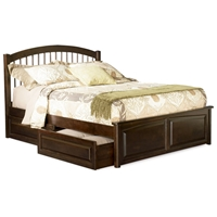 Windsor Platform Bed w/ Raised Panel Footboard and Storage Drawers