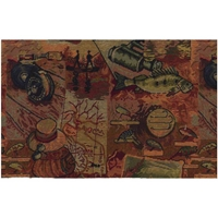 Gone Fishing Tapestry Full Size Futon Cover with Pillows and Bolsters
