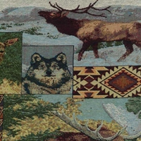 The Wild North Tapestry Full Size Futon Cover with 2 Pillows