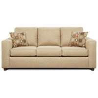 Talbot Contemporary Sleeper Sofa - Vivid Beige Fabric