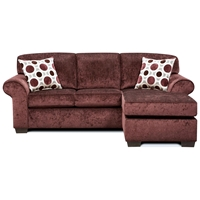 Worcester Transitional Sleeper Sofa Chaise - Prism Elderberry