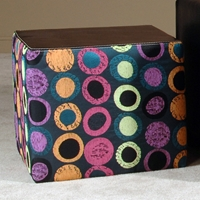 Lauren Upholstered End Table - Multicolored Circles
