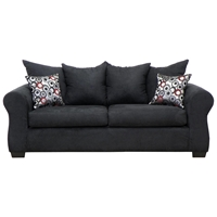 Sheba Padded Sleeper Sofa - Bulldozer Black Upholstery