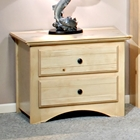 2-Drawer Nightstand - Bead Board, Desert Sand Finish