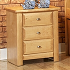 3-Drawer Nightstand - Oval Knobs, Caramel Finish