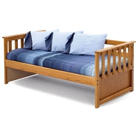 Wooden Daybed - Slatted Sides, Honey Finish
