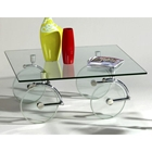 Frost Glass Caster Cocktail Table