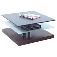 Cocktail Table - Swivel Top, Gray, Walnut