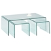 3 Pieces Table Set - Nested Bent, Clear - CI-6022-CT