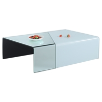 Glass Cocktail Table - White