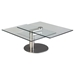 Motion Cocktail Table - Glass Top, Nickel Plated - CI-8049-CT