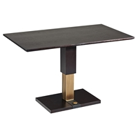 Cocktail Table - Adjustable Height, Pedestal Base, Walnut