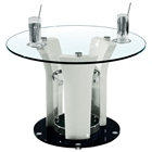 Deborah End Table with Glass Top