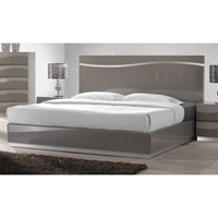 Delhi Platform Bed - High Gloss Gray