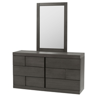 Sydney Dresser - 6 Drawers, Gray