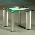 Tracy Squared Round Glass Lamp Table