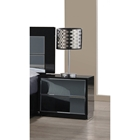 Vinice Nightstand - 2 Drawers, Black