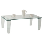 Vera Rectangular Cocktail Table - Clear