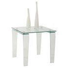 Vera Square Lamp Table - Clear