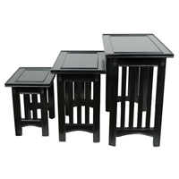 Black Mission Style Nesting Tables