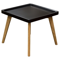 Cafe Square End Table - Black