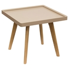 Cafe Square End Table - Taupe
