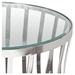 Capri Round End Table - Clear Tempered Glass Top, Stainless Steel - DS-CAPRIETST