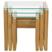Cascade 3 Pieces Nesting Tables - Glass Tops - DS-CASCADEETWO