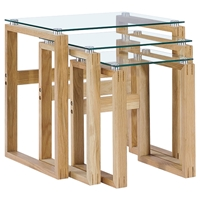 Cascade 3 Pieces Nesting Tables - Glass Tops