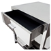 Corleo 1 Drawer Accent Table - Polished Stainless Steel - DS-CORLEOETSS