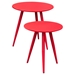 Duo 2 Pieces Nesting Tables - High Gloss Red - DS-DUOETRE