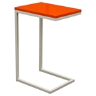 Edge Rectangular Accent Table - Orange