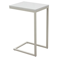 Edge Rectangular Accent Table - White