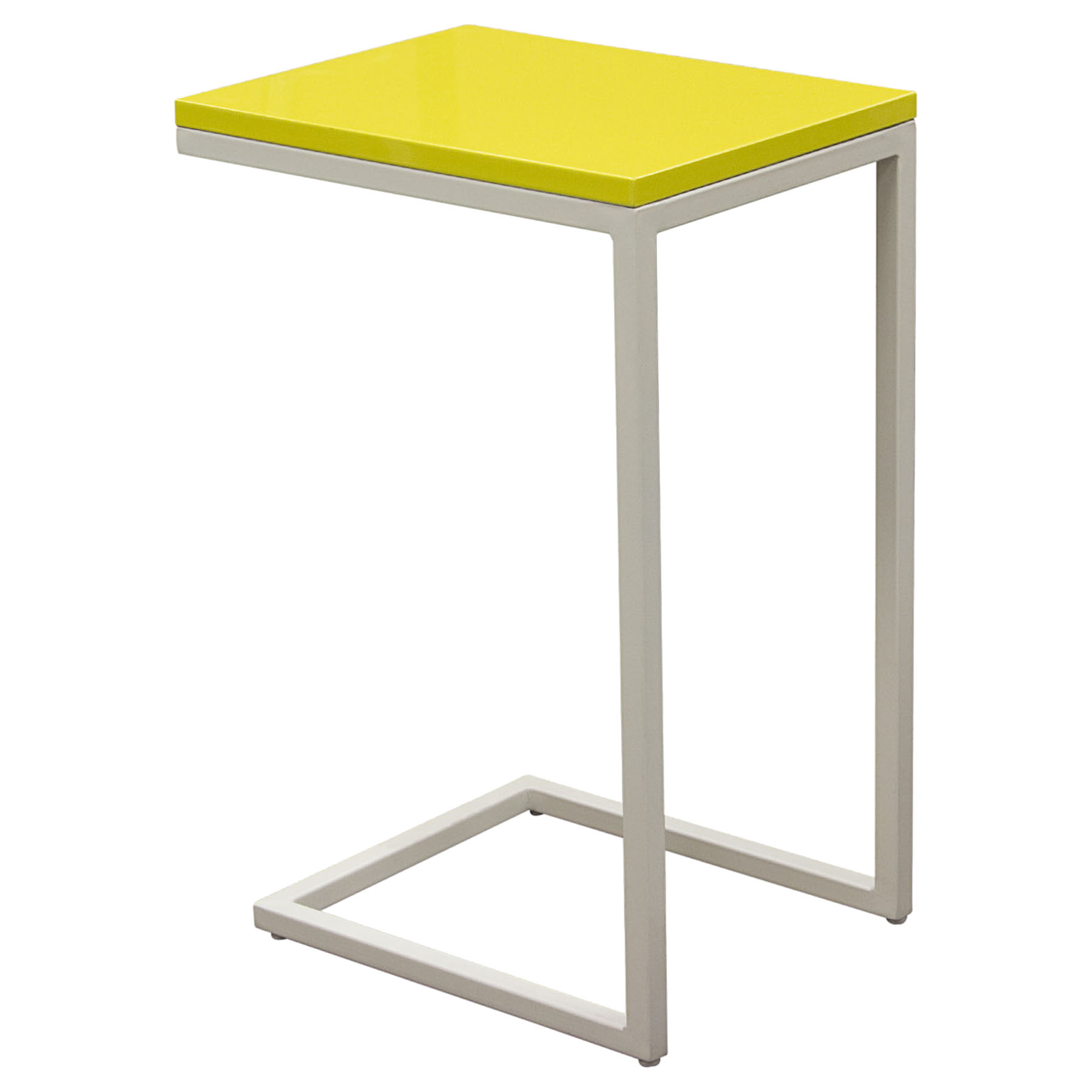 Edge Rectangular Accent Table - Yellow