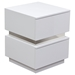 Elle 2 Drawers Accent Table - High Gloss White - DS-ELLENSWH