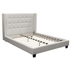 Madison Platform Bed - Tapered Wings, Tufted, White