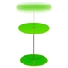 Orbit Glass Accent Table - Adjustable Height, Green, Chrome - DS-ORBITETGN