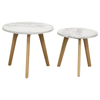 Pebble 2 Pieces Nesting Set - Oak, Marble