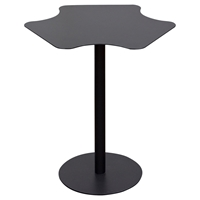 Peta Metal Accent Table - Pedestal Base, Black