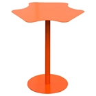 Peta Metal Accent Table - Pedestal Base, Orange