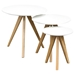 Sprout 3 Pieces Nesting Table Set - White, Oak - DS-SPROUTETWH