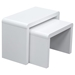 Stanza 2 Pieces Nesting Table Set - White - DS-STANZACTWH